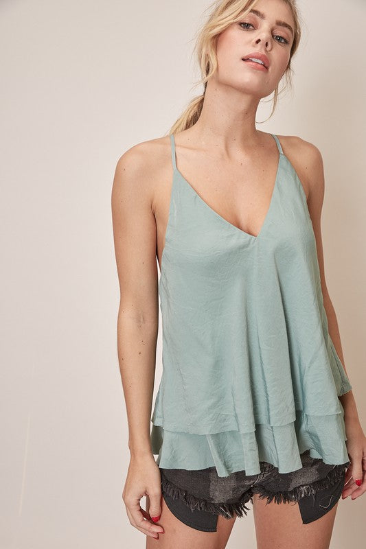 Sage Layered Tank Top