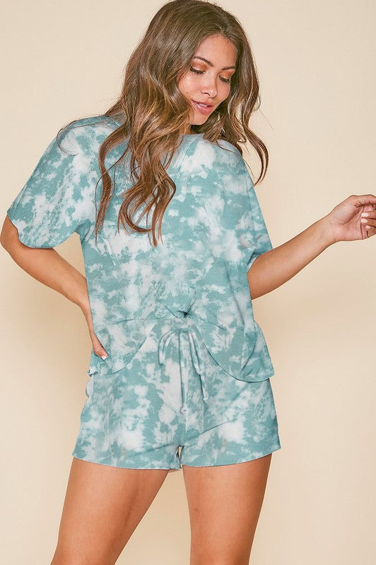 Dusty Teal Tie Dye Top