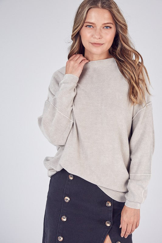 Lt. Beige Brushed Knit Sweater