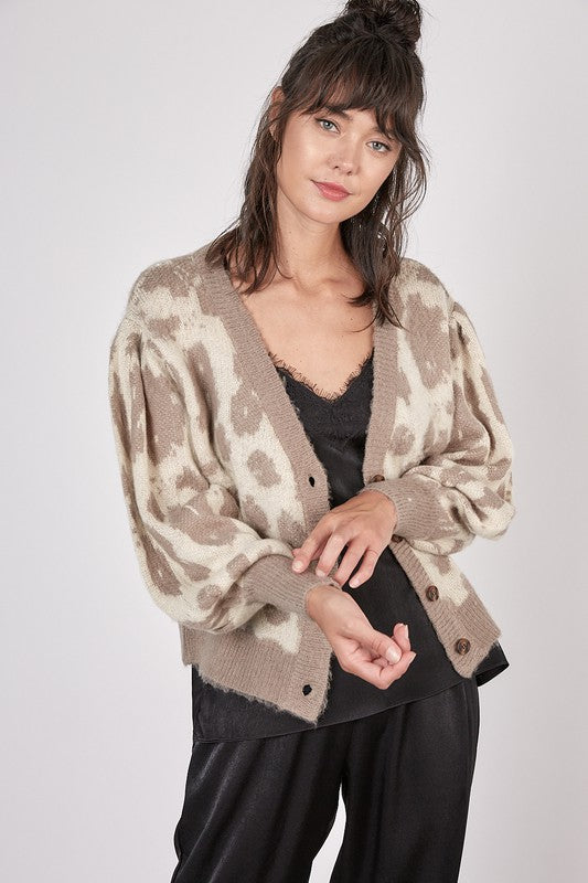 Animal Button Cardigan