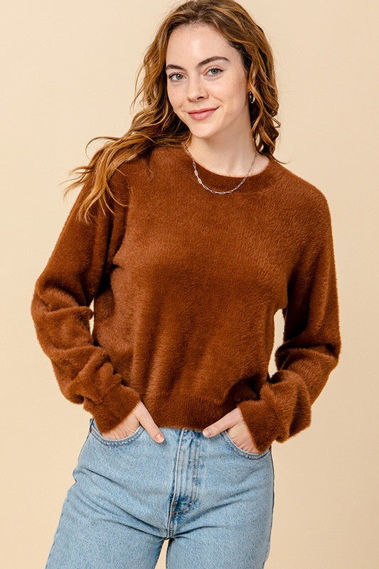 Hazelnut Fuzzy Sweater