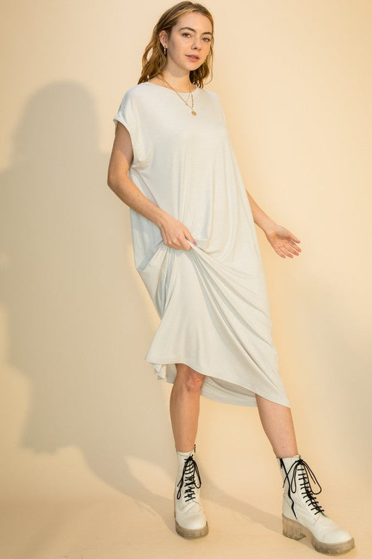 Christy Dress - Pearl Grey