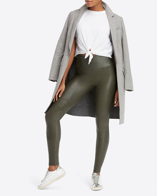 leather green spanx