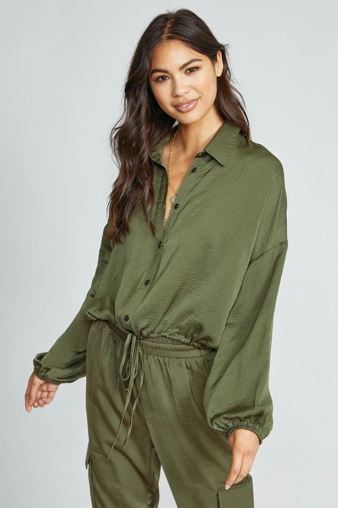 Never Enough Top- Olive