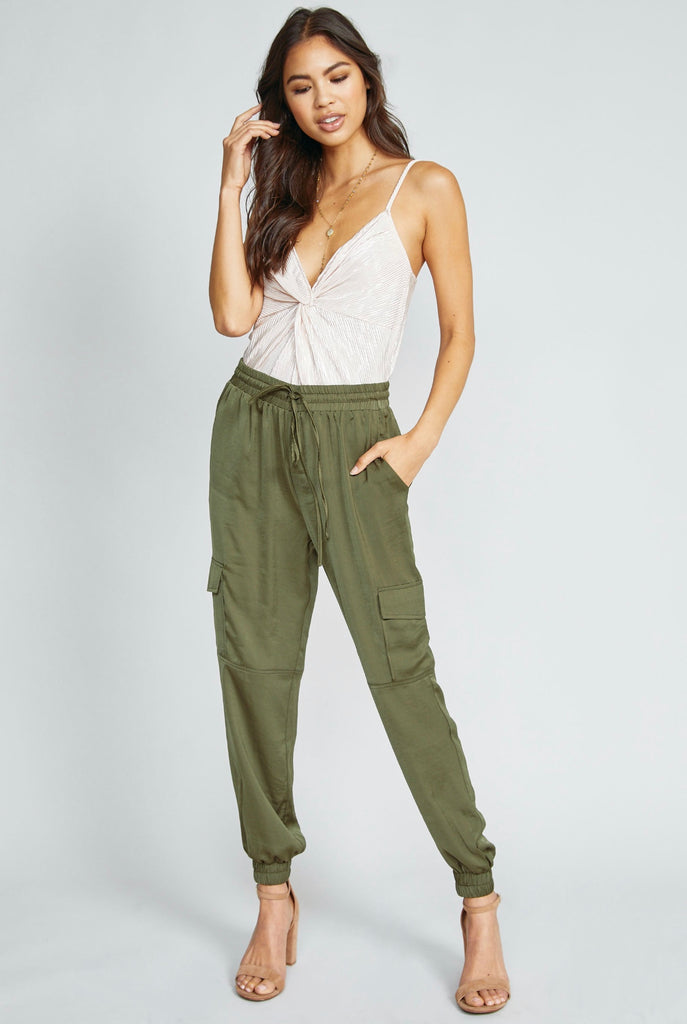 Never Enough Utility Pant- Olive