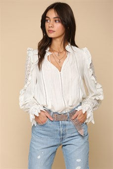Lace Woven Jacquard Top