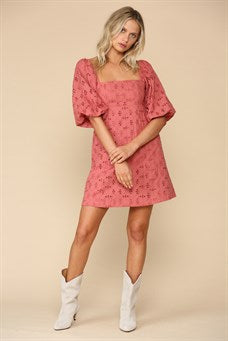 Fiesta Eyelet Mini Dress