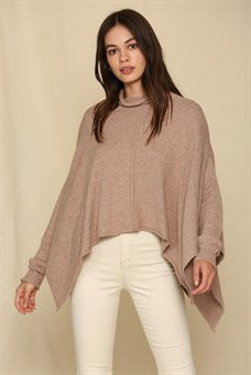 Brown Sweater Poncho