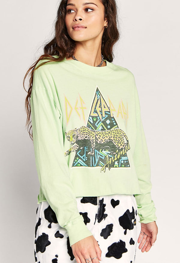 DAYDREAMER - Def Leppard Animal Long Sleeve Crop