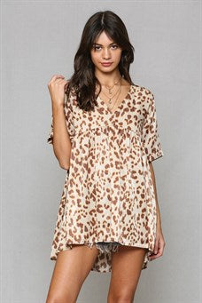 Leopard Baby Doll Tunic Dress
