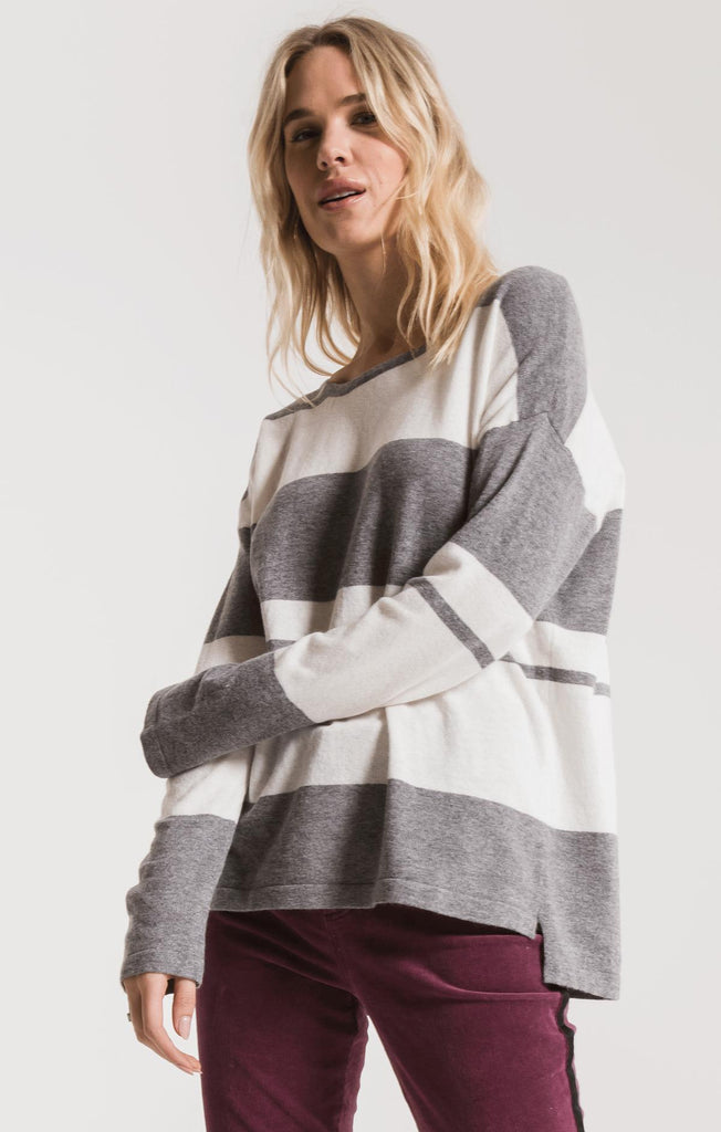 Genoa Sweater - Heather Grey