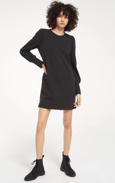 Kyra Terry Dress- Black