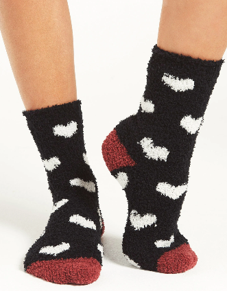 Heart Plush Socks