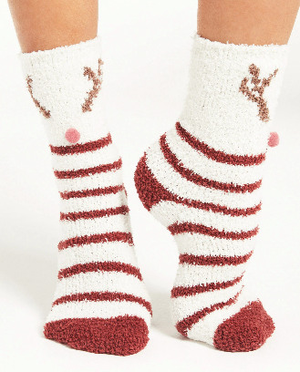 Deer Plush Socks