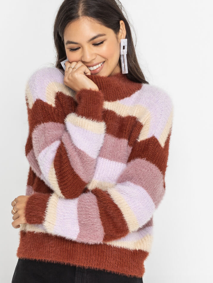 Pink & Mauve Cozy Sweater