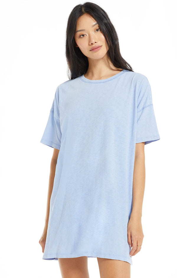 Delta T-Shirt Dress - Perennial Blue