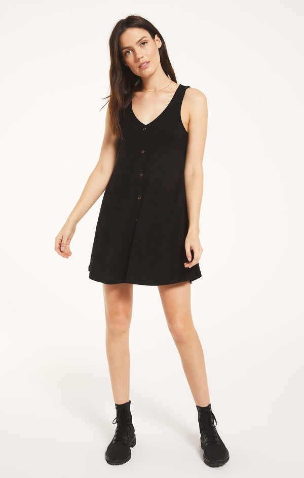 Margo Rib Dress - Black