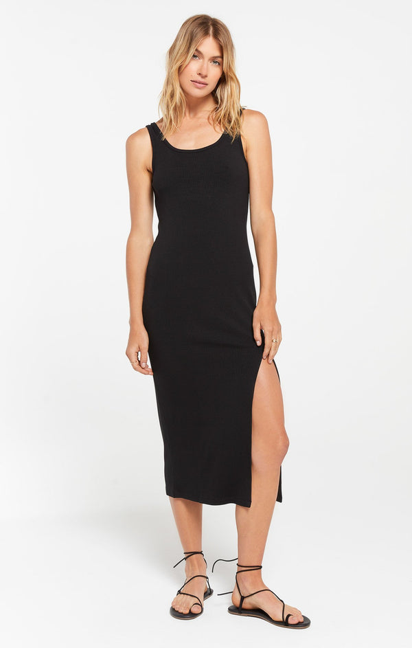 Melina Rib Dress - Black