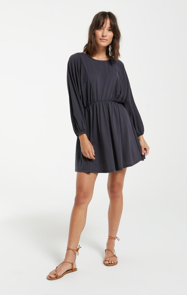 Karla Organic Dress - Washed Black