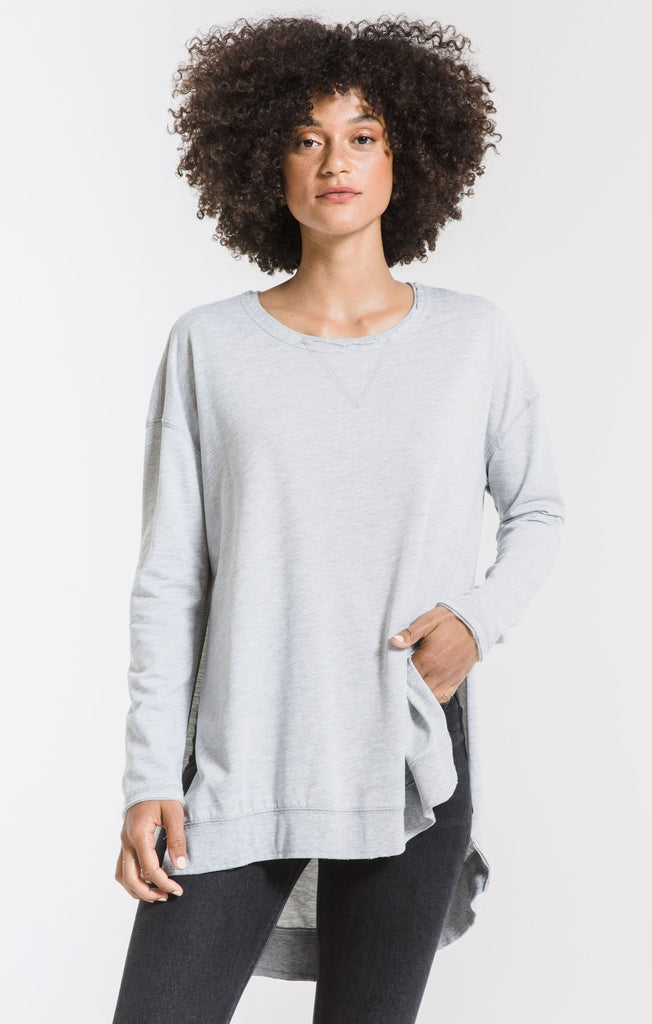 Grey long sleeve tunic