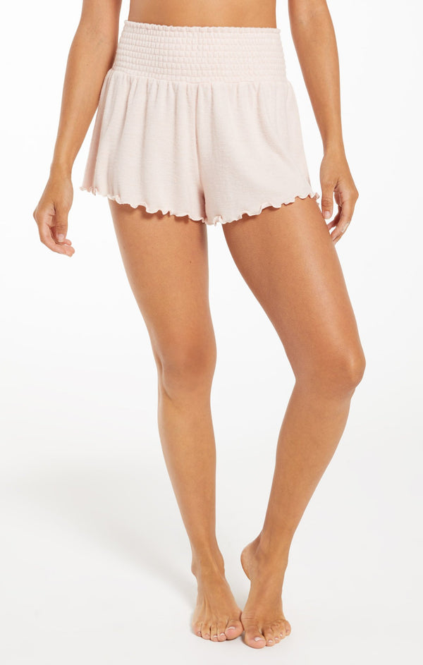 Dawn Smocked Shorts - Rose Quartz