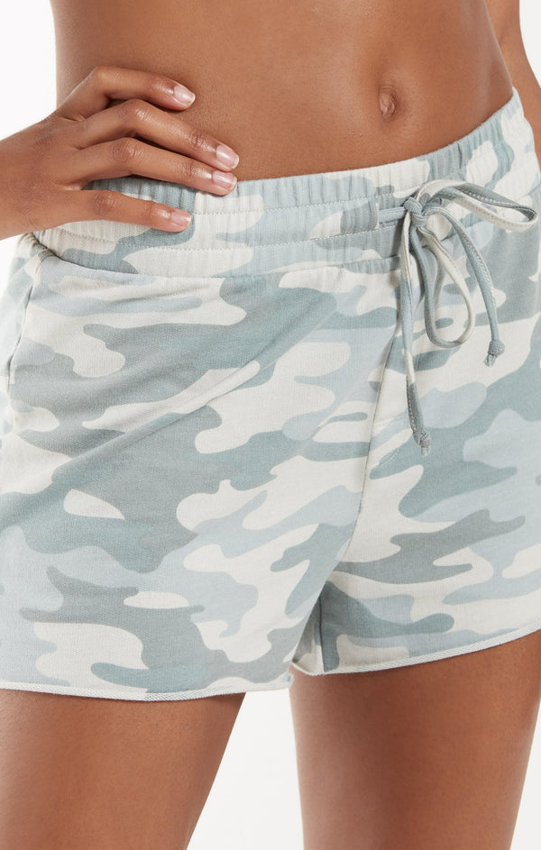 The Camo Sporty Short - Camo Dusty Sage