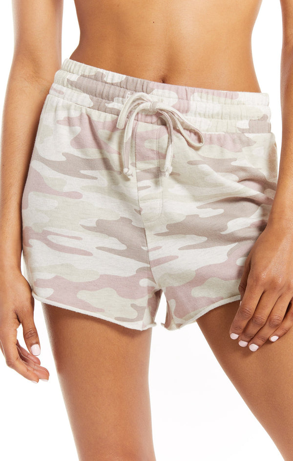 The Camo Sporty Short - Camo Mauve