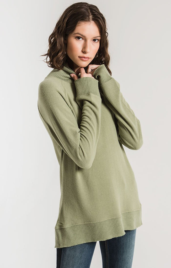 green soft sweater