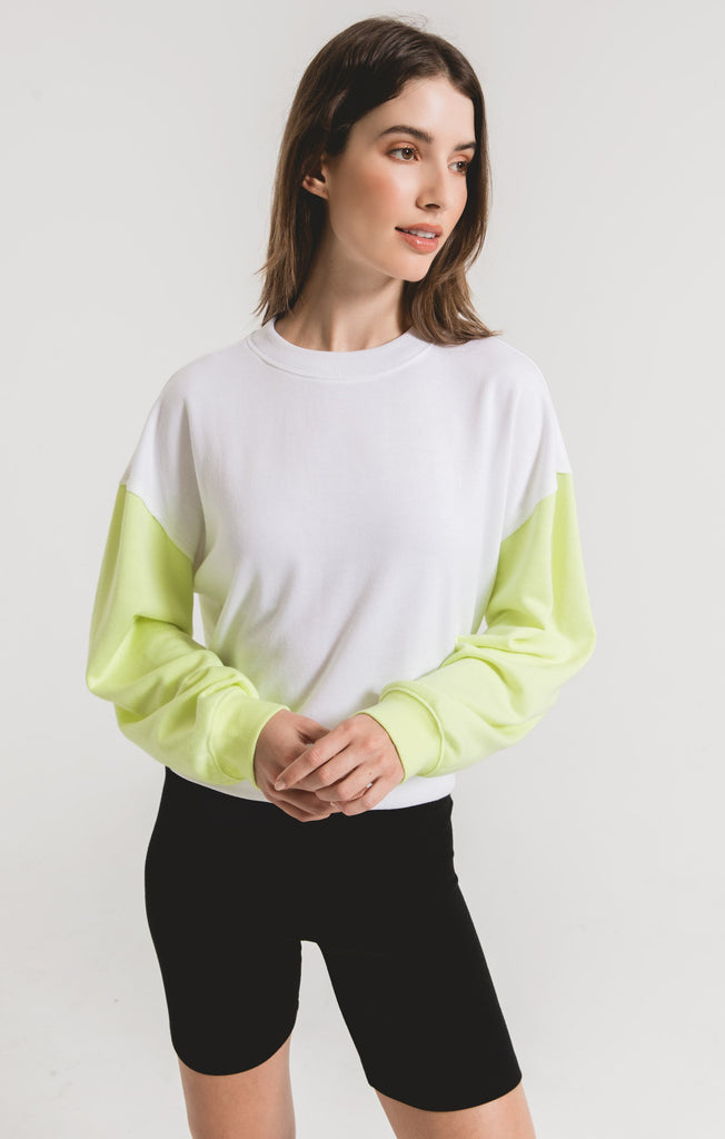 neon lime sweatshirt