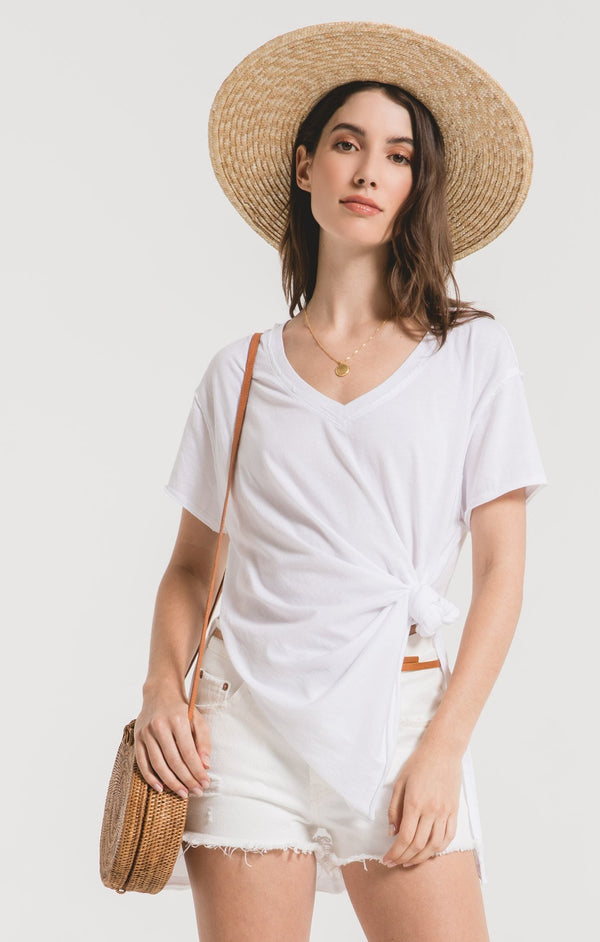 Organic Cotton Side Slit Tunic- White