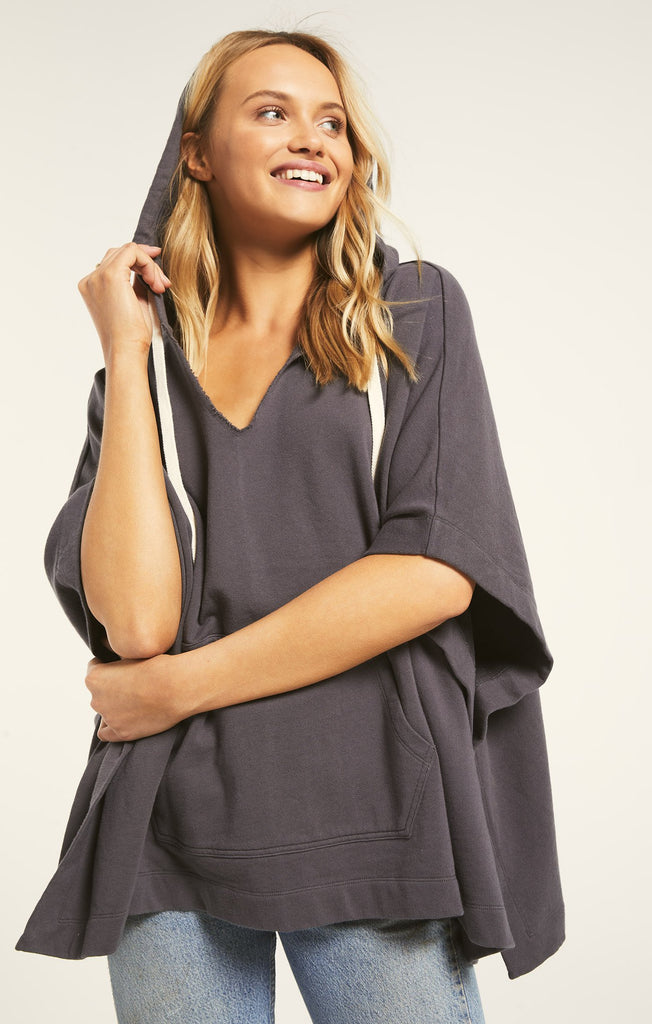 Canyon Poncho- Washed Grey