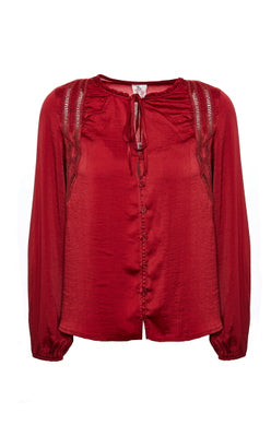 Winter Day Blouse- Garnet