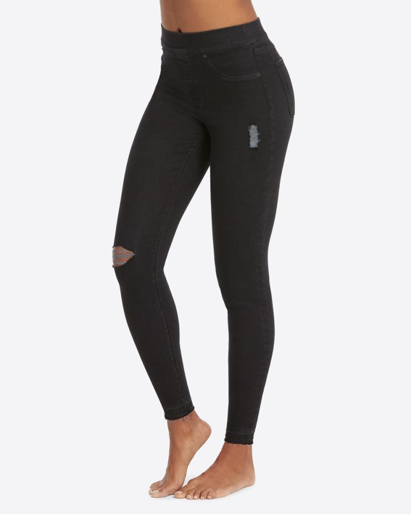 black cropped jeans spanx