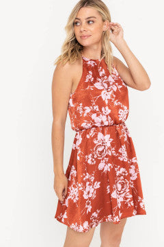 Rusty Pink Floral Dress
