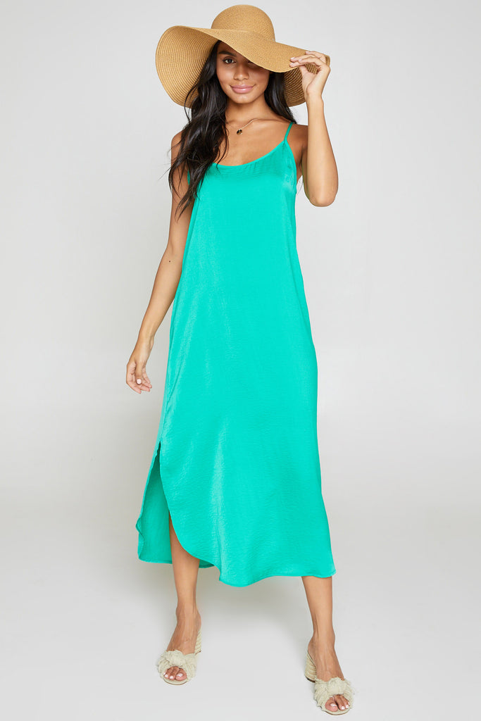 Rhythm & Sea Maxi Emerald Dress