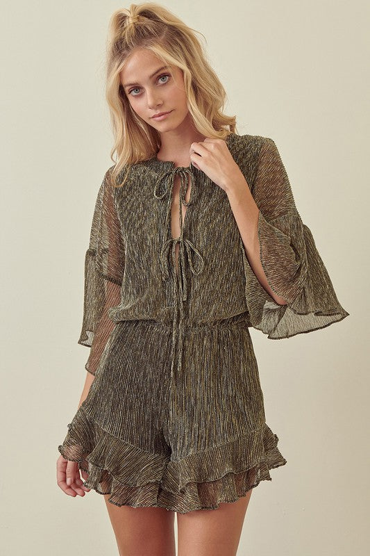 Metallic Holiday Romper