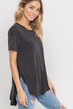 Black Lush Knit Top