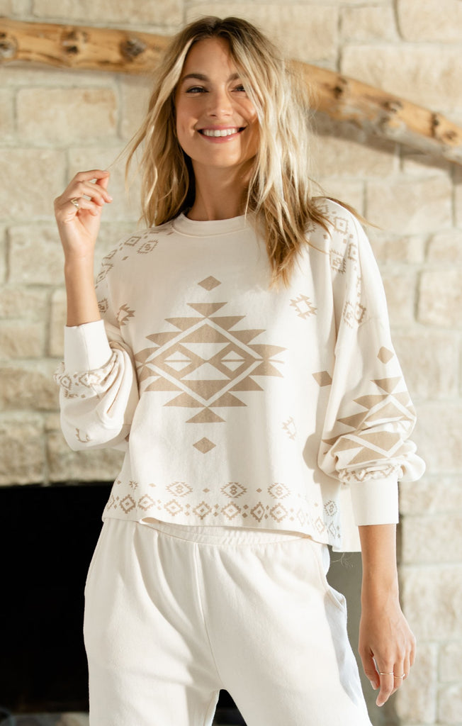Lea Tribal Sweatshirt - Bone