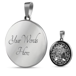 To My Son Necklace From Father Round Pendant Dad Love You For Little Boy Gift - Vnamus