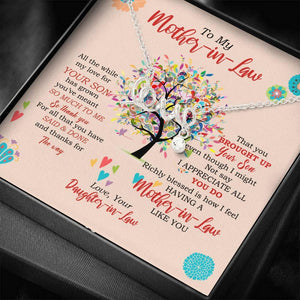 To My Mom-in-law Gift Idea For All The Times Scripted Love Necklace Mother's Day - Vnamus