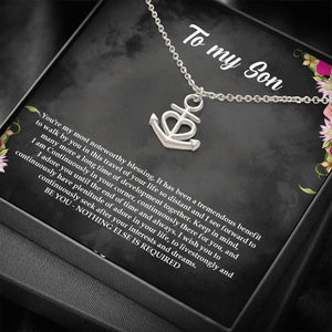 Gift for Son Birthday Gift for Son Christmas Gift for Son, Necklace for Son, Anchor Necklace Men