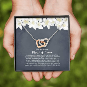 Maid of Honor Gift Necklace, Maid of Honor Proposal, Will you be my Maid of Honor, MoH Gift Box - Vnamus