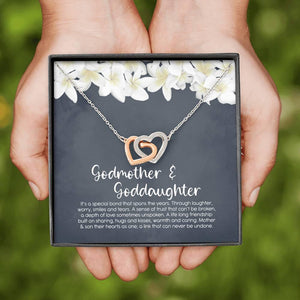 Godmother & Goddaughter Necklace, Goddaughter Gift from Godmother, Jewelry for Godmother and Goddaughter - Vnamus