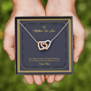 To Mother In Law Interlocking Hearts Necklace - Vnamus
