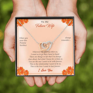 To My Future Wife Linking Hearts Necklace With Message Card, Necklace for Wife, Gifts for Future Wife, Wedding Day Gift, Wife Necklace Gift - Vnamus