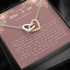 To My Mother in Law on My Wedding Day, Mother in Law Gift From Bride, Future Mother in Law Necklace, Gift For Mother-in-Law, Wedding Gift - Vnamus
