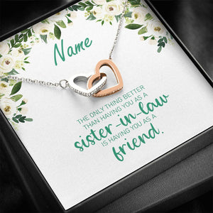 Sister in Law Gift from Bride | Personalized Sister of the Groom Gift Necklace | Sister of the Bride Wedding Gift | AZURE Collection