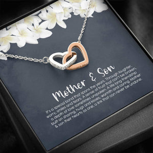 Mother and Son Necklace, Mom Gift, Mother's Day Gift from Son, Birthday Gift, Christmas Gift, Jewelry for Mom - Vnamus