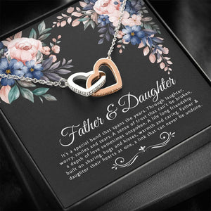 Father and Daughter Necklace, Daughter Gift, Mother's Day Gift, Jewelry for Daughter, Gift from Dad - Vnamus