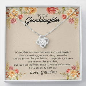 To My Granddaughter - I will always be with you - Love Grandma - Love Knot Necklace - Vnamus